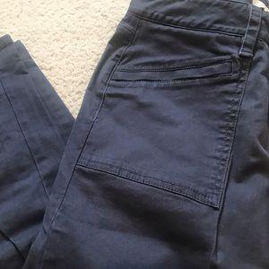 LOFT ASHY BLUE/GREY PANTS